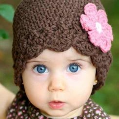Gorros tejidos para bebés (15)