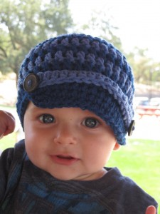 Gorros tejidos para bebés (4)
