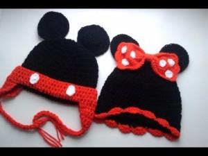 Gorros tejidos de Mickey (2)