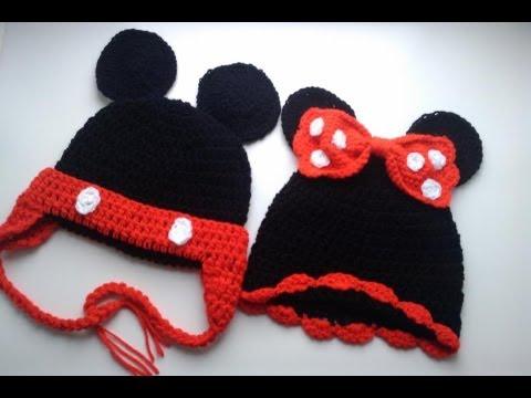 Gorros tejidos de Mickey | Gorros tejidos