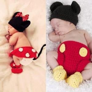 Gorros tejidos de Mickey (3)