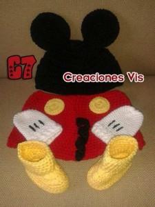Gorros tejidos de Mickey (7)