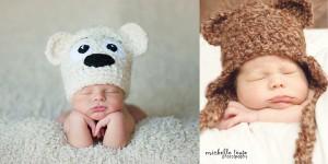 12 Gorros tejidos para recién nacidos (8)