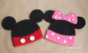 12 Bonitos gorros tejidos de Minnie mouse (1)