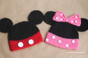 12 Bonitos gorros tejidos de Minnie mouse