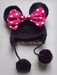 12 Bonitos gorros tejidos de Minnie mouse (11)