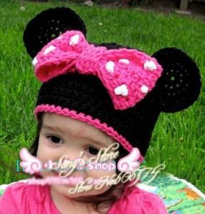 12 Bonitos gorros tejidos de Minnie mouse (3)