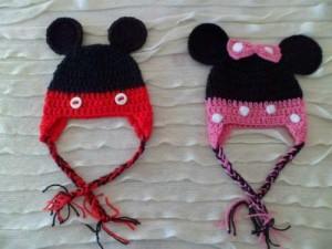 12 Bonitos gorros tejidos de Minnie mouse (4)