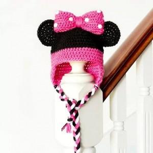 12 Bonitos gorros tejidos de Minnie mouse (5)