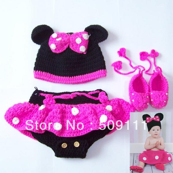12 Bonitos gorros tejidos de Minnie mouse - Gorros Tejidos