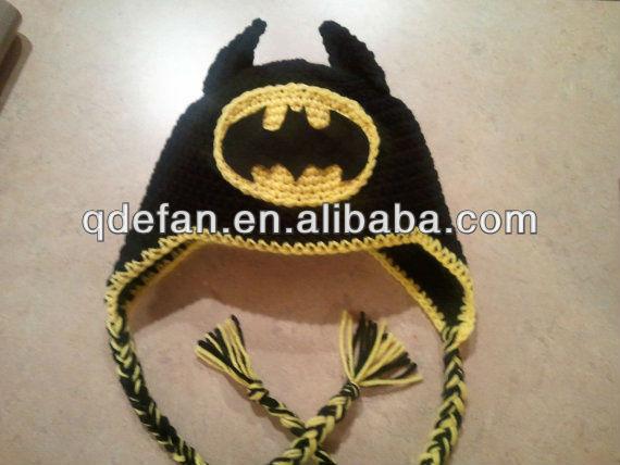 9 Divertidos gorros tejidos a crochet de batman - Gorros Tejidos
