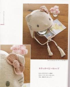 9 Bellos gorros tejidos al crochet de kitty (2)