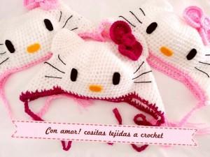 9 Bellos gorros tejidos al crochet de kitty (8)