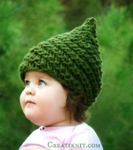 9 Gorros tejidos en dos agujas para niños (7)