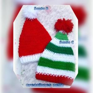 10 Gorros tejidos de navidad (9)