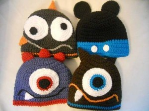 11 divertidos gorros tejidos en crochet para niños (2)