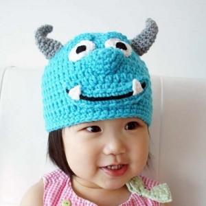 11 divertidos gorros tejidos en crochet para niños (6)