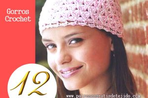 11 gorros tejidos femeninos