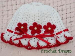 10 gorros tejidos a crochet para bebe (2)