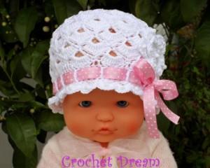10 gorros tejidos a crochet para bebe (5)