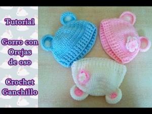 10 gorros tejidos a crochet para bebe (7)
