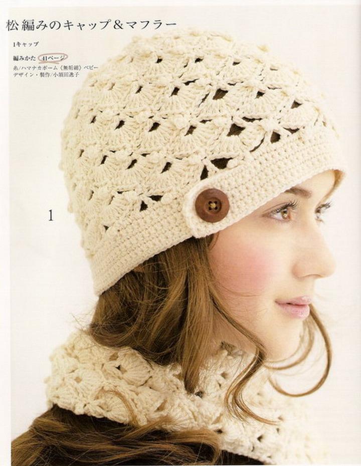 10 gorros tejidos japoneses - Gorros Tejidos