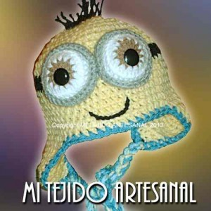 11 Gorros tejidos a crochet de personajes (4)