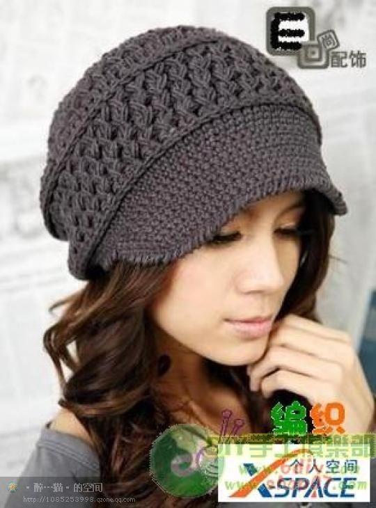 56c1489317a84 10 gorros tejidos a crochet para mujer - Gorros Tejidos
