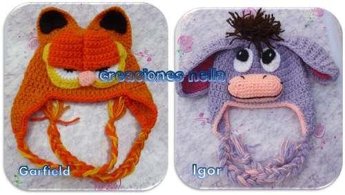 645ada393 10 gorros tejidos de personajes - Gorros Tejidos